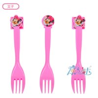 Wholesale spoon fork knife minnie birthday kids baby party paper kids birthday suppliers Theme Supplies Decoration