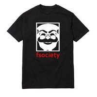 Wholesale Genius Mr Robot Fsociety Tee Men Graphic O Neck Tee Funny Hacker Evil Corp Tv Series T shirt Casual Cotton tshirts Unisex