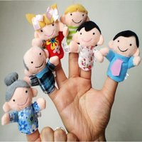 Wholesale Funny Family Finger Puppets Story Set Toy Gift for Kids Baby