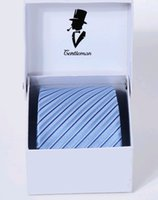 Wholesale Male groom suit tie cm blue stripes Microfiber four colors drop shipping