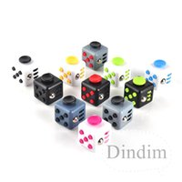 Wholesale 11 Color Fidget cube the world s first American original decompression anxiety Toys Adults and Children Novelty Fidget Cube Toy