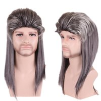 Wholesale cheap mens wigs halloween fluffy new fashion design ombre male wigs synthetic hair heat resistant anime wig men cosplay wig male