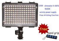 Wholesale DOF C200 Power LED Photo Camera Video Light Camcorder DV Camera lighting for Canon Nikon DSLR cameras