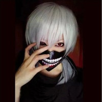 Wholesale White Wig Men short straight Tokyo Ghoul Jin Mu research Cosplay wig Jin Mu cartoon high temperature wire
