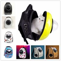 Wholesale 2017 New Hotest Space Capsule Shaped Pet Carrier Breathable Pet Backpack PC Pet Dog Outside Travel Bag Portable Bag Cat Bags