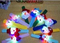 arts leather bracelet - Christmas High end Light Decoration DHL Cloth Art Night Clap Circle Kid Party Ornament Circle Children Led Bracelets Christmas Decorations