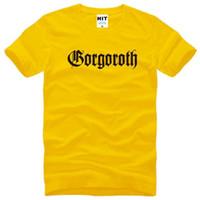 band twilight - GORGOROTH T Shirts Men Cotton Short Sleeve Gorgoroth Twilight of the Idols Men s T Shirt Fashion Rock Band Heavy Metal Tee Shirt
