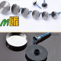 Wholesale stainless steel mirror Screw Cap nail acrylic decorative lamp fixed screws billboard nail