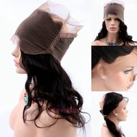 band lace front wig - 360 Lace Frontal Closure Peruvian Virgin Hair Natural Hairline A Grade Body Wave Lace Band Frontal Closure With Baby Hair