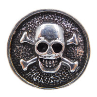 Wholesale new skull mm noosa chunk snap button for Ginger snap bracelets