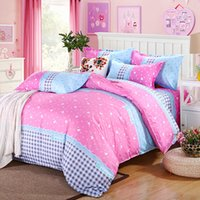 Wholesale Hearts Pattern Duvet Cover Pillowcase Quilt Cover Bedding Set Pink Available for Shipment Exclusively within the U S