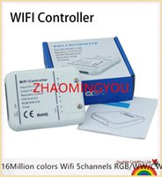 Wholesale 16Million colors Wifi channels RGB WW CW led controller smartphone control music and timer mode wifi led controller