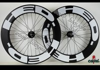 Wholesale Freeshipping c bicycle wheels track mm clincher carbon track wheel fixed gear single speed wheelset with hub Novatec