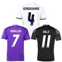Wholesale 16 Real Madrid home to Madrid short sleeved adult T shirt training clothes C Bell male