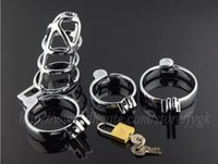 Cheap Male chastity cock cage lock CB3000 chastity device metal anti-masturbation sex toys stainless steel chastity small cage