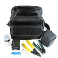 Wholesale Fiber Optic Tool in FTTH Splice fiber optic tool kits Fibre stripper S fiber cleaver and tools bag Kit