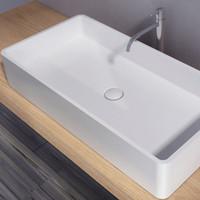 Artificial Stone bathroom sinks tops - Modern Bathroom Furniture Acrylic Resin Stone Table Top Basin PB2013