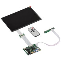 Wholesale 10 Inch pins RGB TFT EJ101IA G LCD Screen Display With Remote Driver Control Board AV HDMI VGA for Raspberry Pi