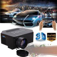 Meilleur Prix Le plus récent Théâtre à la maison 1200Lumens HDMI USB 3D Rouge Bleu LCD Mini 1080P LED Wifi Vidéoprojecteur Vidéo Portable FULL HD