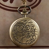Wholesale Bronze Doctor Who Style Fashion Quartz Pocket Watch Best Gift