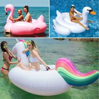 Animals adult trampoline - NewestHot Inflatable Swan Unicorn Flamingo Floating Bed Raft Air Mattress Summer cm PVC Adults Pool Float Toy Floating Row
