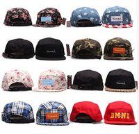 Wholesale camo panel snapback baseball cap hip hop strapback diamond supply co men summer winter spring outdoor hats bone aba reta toca