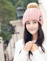 Wholesale autumn winter fashion lady warm knitted hat with velvet