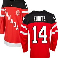 Cheap #14 CHRIS KUNITZ Team Canada Jersey OLYMPIC HOCKEY 100TH ANNIVERSARY free shipping Customize any size player name number