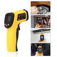 Wholesale GM550 IR Infrared Thermometer LCD Non Contact Digital Laser Temperature Meter C F Pyrometer EM Celsius