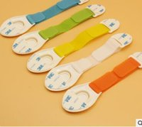 Wholesale Color optional multi functional adjustable protective baby safety products strong ribbon cloth child safety locks