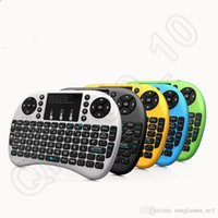 Wholesale Rii i8 Backlight Wireless Bluetooth Mini Keyboard Remote Control Mouse Touchpad for Smart TV Android Box PC OOA1015