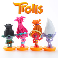 Wholesale 016 Hot Trolls PVC Action Figures Toys Poppy Branch Biggie Collection Dolls for Kid Figures Model Toys Christmas Gift x7cm