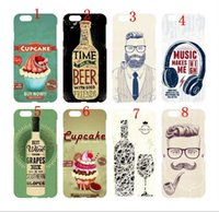 For Apple iPhone beer glass pipes - Cupcake Beer Bottle Wine Glass Goblet Tobacco Pipe Man Headphone Matte Hard Plastic Case Cover For Iphone5S S Plus Plus