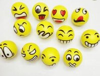 Wholesale 99 Christmas party FUN Emoji Face Squeeze Balls Stress Relax Emotional Toy Balls Fun Office Holiday Gift Stocking Stuffer Gag Toy