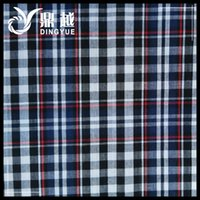 adult colored shirt - DY D Comfortable And Fashionable Adults Garments fabric Cotton Jacquard Check Stripe Fabric For Shirt