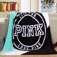 Wholesale Victoria Coral Fleece Classic Love Pink Secret Keep Body Warm living room Bed Throw Blanket cm cm for Christmas