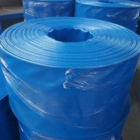 Plastic DIN Water Hose Customized Special Polyester Filament And Premium High-strength Blue PVC Layflat Hose used for agriculture irrigation