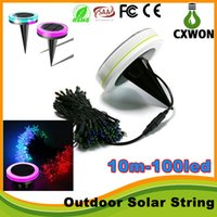 Wholesale solar lawn string lights Outdoor led Christmas light string M led RGB festive decorative lantern waterproof outdoor lawn lamp