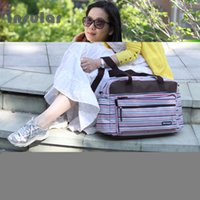 Wholesale Hot Multifunctional Big Mummy Diaper Bag Nappy Maternity Bags For Travel Baby Mother Messenger Bag For Diapers Stripe Patterns