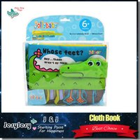 baby development activities - Animal Cute Cartoon Crocodile Baby Toys Infant Early Intelligence Development Cloth Book Learning Education Activity Books