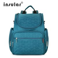 Wholesale New Arrival Insular Baby Diaper Backpack D Nylon heavy Duty Mommy Backpack Nappy Bag Changing Bag baby Bags For Mom