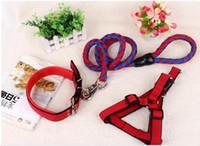 Горячие продажи нейлона собаку ошейник для цвета собаки ошейник и поводки маленький средний большой собаки кошки
