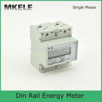 Wholesale 10 A V energy meter calibration equipment electronic socket energy meter DIN Rail mounting energy meter MK LEM011JC
