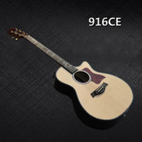 Wholesale Acoustic electric guitar Solid Spruce top ebony fingerboard Custom Handmade acoustic guitar in stock Chinese guitars