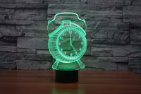 Wholesale Hot selling Alarm Clock Lamp D Visual LED Night Light Touch Button USB Desk Lamp Baby Sleeping Lamp Home Decor