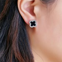 Wholesale South Korea Dongdaemun with jewelry Clover diamond earrings Fashion Clover earrings jewelry foreign trade