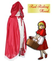 Wholesale Child Little Red Riding Hood Girls cloak Hooded Cloak for Baby and Little Girls