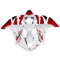al por mayor blanco rojo yamaha r1-3 regalos gratis Carenados completos para Yamaha YZF-R1-09-10-11-12 YZF-R1-2009-2010-2011-2012 Kit completo de carenado de motocicleta blanco rojo