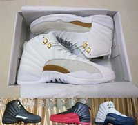 Boy baby flu - Drop Shipping Retro OVO s French Blue Flu Game Master For Men Basketball Shoes Baby Kids Shoes Top Quality