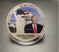 Carved art house america - Make America Great Again USA Silver Coin American th President Donald Trump US White House Metal Souvenir Coins